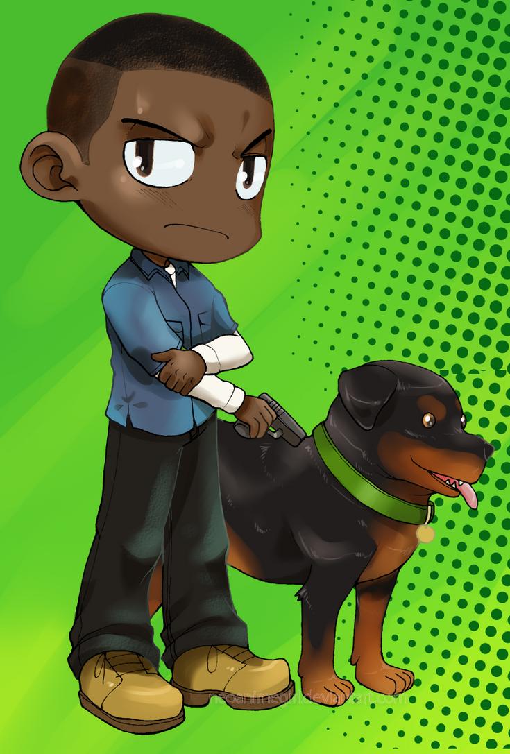 GTA 5: Franklin and Chop by neoanimegirl on deviantART