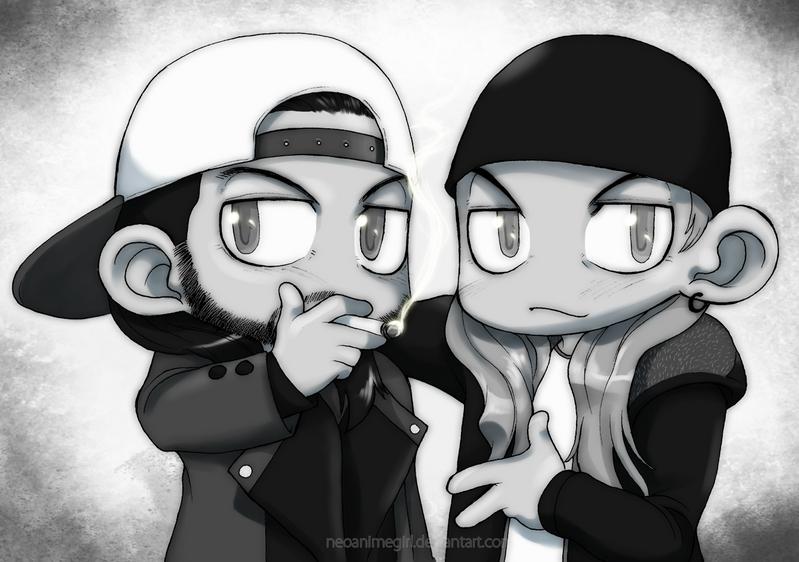 Chibi Jay and Silent Bob by neoanimegirl