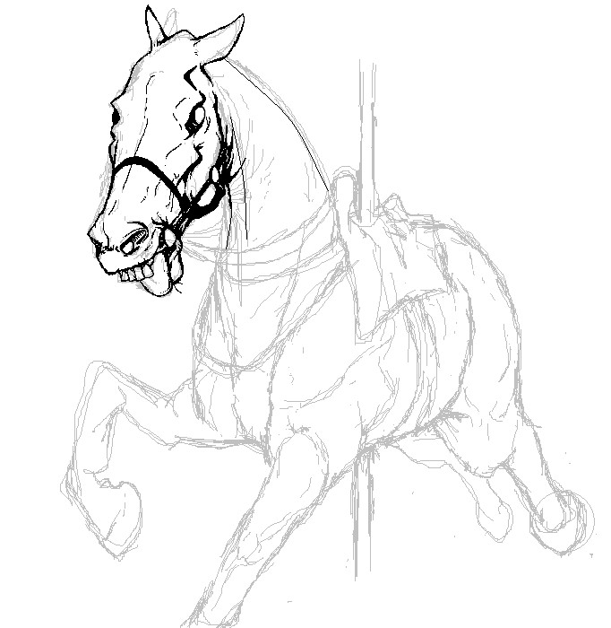 ZOMBIE HORSE WIP by Sc...