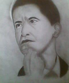2012 drawing - The president Obama :) by nielopena