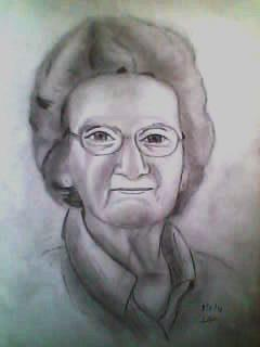 2012 drawing - Grandma :) by nielopena