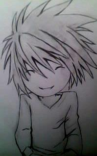 2012 drawing - L line art :) by nielopena