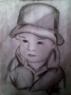 2012 drawing - Little boy :) by nielopena