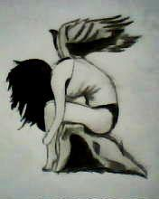 2012 drawing - fallen angel by nielopena