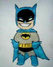 2012 drawing - haha batman XD by nielopena