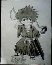 2012 drawing - ichigo (bleach) by nielopena