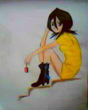 2013 drawing - rukia by nielopena