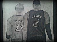 2013 drawing - Kobe and LeBron by nielopena