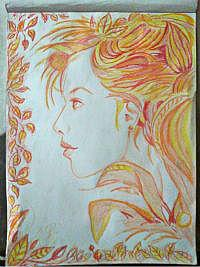 2013 drawing - nature lady by nielopena