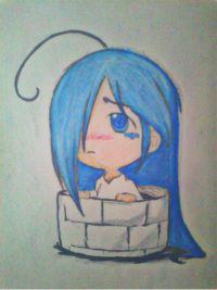 2013 drawing - chibi version of sadacute ^___^ by nielopena