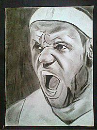 2013 drawing - The King LeBron by nielopena