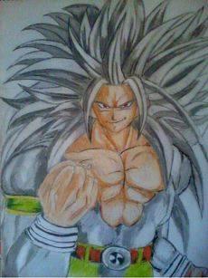 2013 drawing - Super Saiyan 5 goku by nielopena
