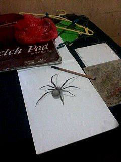 2013 drawing - 3D spider :) by nielopena