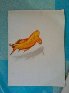 2013 drawing - 3D fish by nielopena