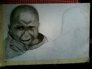 2013 drawing - Wip Tribute to Typhoon Yolanda by nielopena