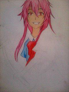2014 Drawing - Wip of Yuno Gasai :) by nielopena