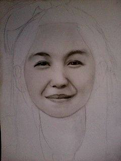 2014 Drawing - Wip of Ms. Grace :) by nielopena