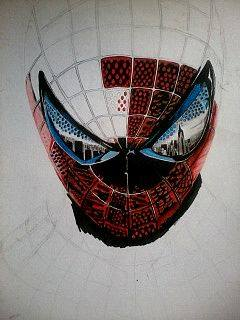 2014 Drawing - Wip of Spiderman :) by nielopena