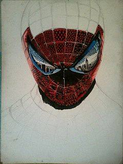2014 Drawing - wip no 2 of spiderman :) by nielopena