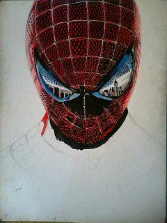 2014 Drawing - wip no 3 of spiderman :) by nielopena