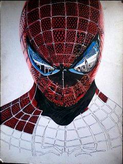2014 Drawing - wip no. 4 of spiderman :) by nielopena