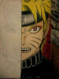 2014 Drawing - wip of naruto vs pein by nielopena