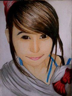 2014 Drawing - Ms. Lexi Chaa by nielopena