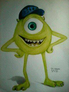 2014 Drawing - Mike Wazowski :)) by nielopena