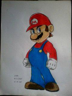 2014 Drawing - Super Mario :) by nielopena