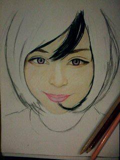 2014 Drawing - wip of Ms. Katya Lischina :) by nielopena