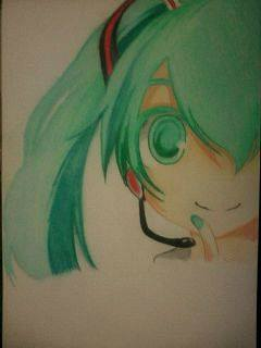 2014 Drawing - wip of Miku Hatsune :) by nielopena