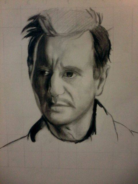 2014 Drawing - wip of Mr. Liam Neeson by nielopena