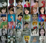 2014 Drawing - My year end drawing collage :))