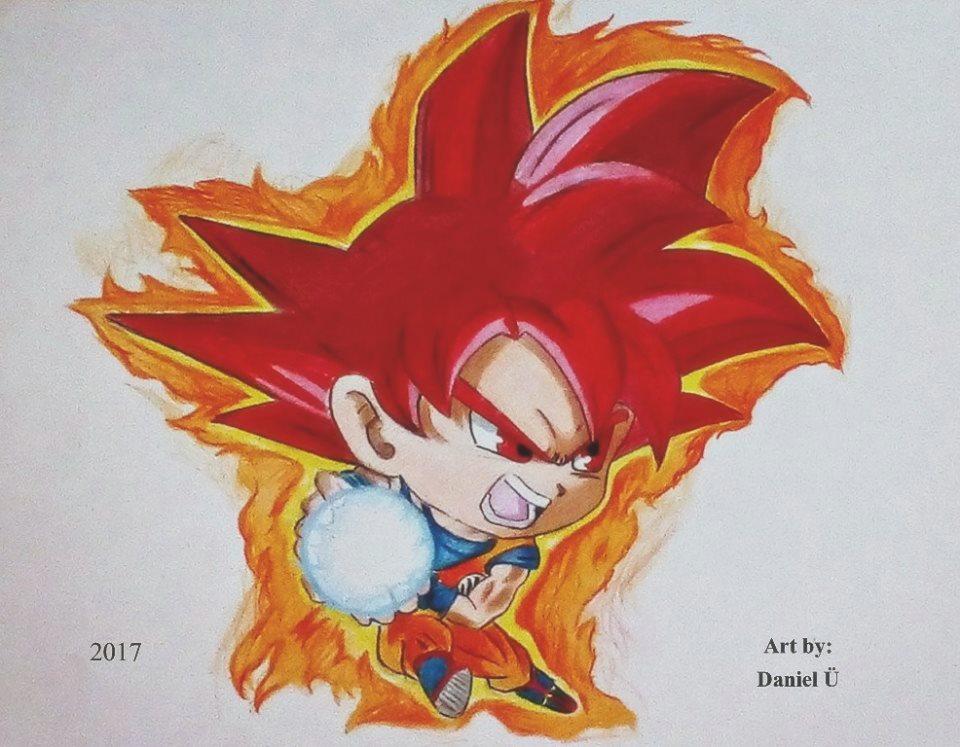 SSJG Goku Chibi (2017) by nielopena