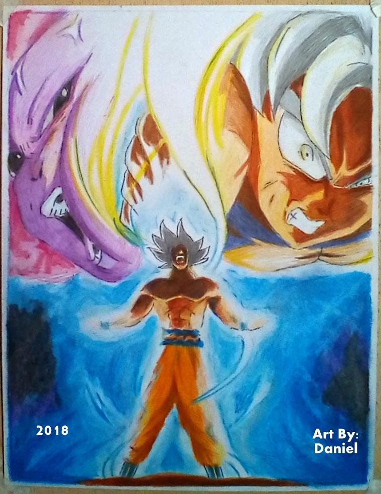 Goku Mastered UI Vs Full Powered Jiren ~ 2018 by nielopena