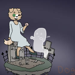 Sitting in a graveyard by doglady88722