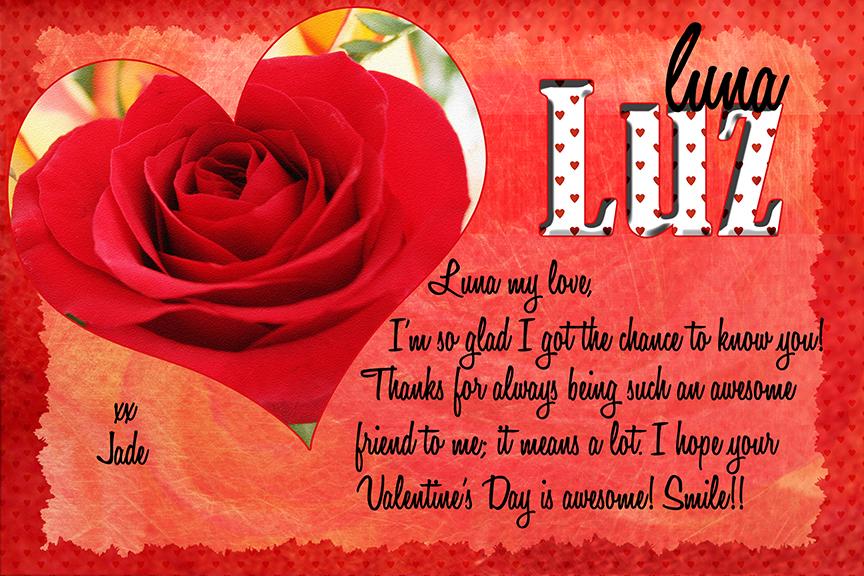 Secret Sister Valentine For Luz By Aeirmid ...