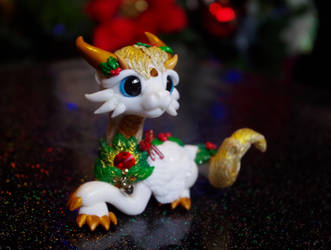 Christmas dragon GABRIEL by Azura-Roselion