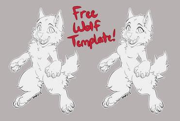 Free Chibi Wolf Base! by SmpyCookie