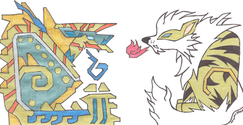 Zinogre Arcanine Mh4u Icons By Aaronthearcanine On Deviantart