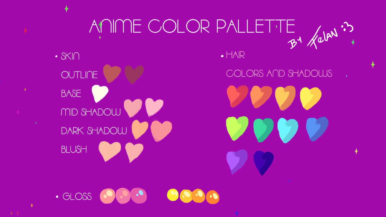 anime color palette by felanka on deviantart