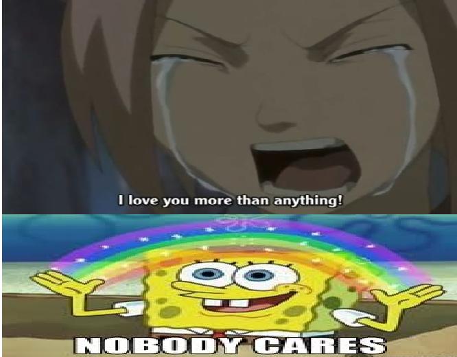 No One Cares Meme Spongebob