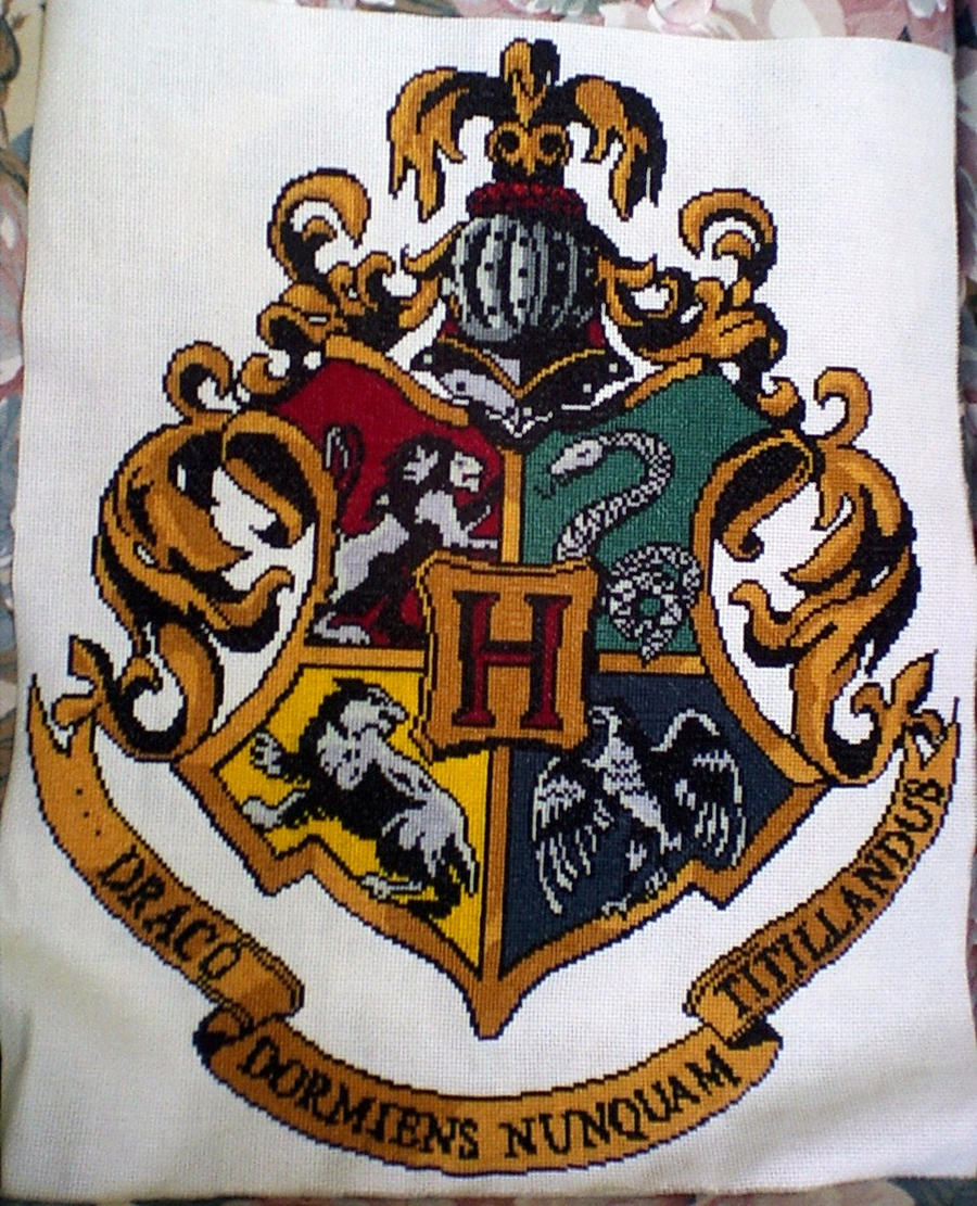 hogwarts crest cross Hogwarts Crest On Letter