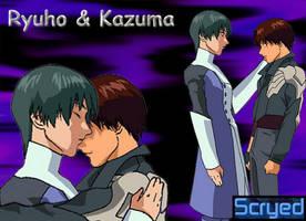 Ryuho and Kazuma wallpaper by AnimeFan-Artemis