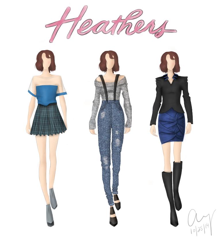 Gigi's Sketchbook: Winona (Part 1 - Heathers) by fashionfreedom