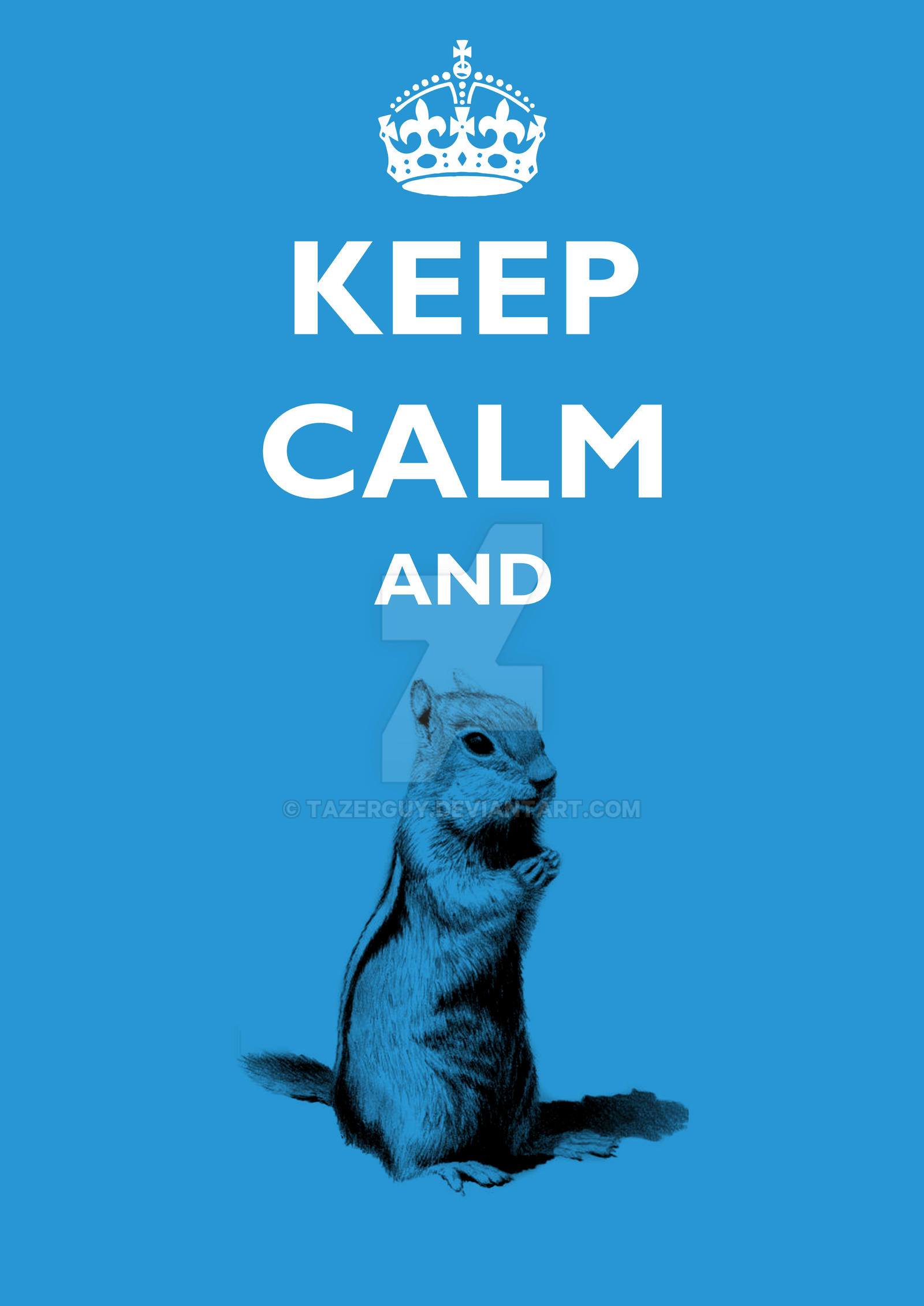 Keep Calm and... Squirrel by tazerguy