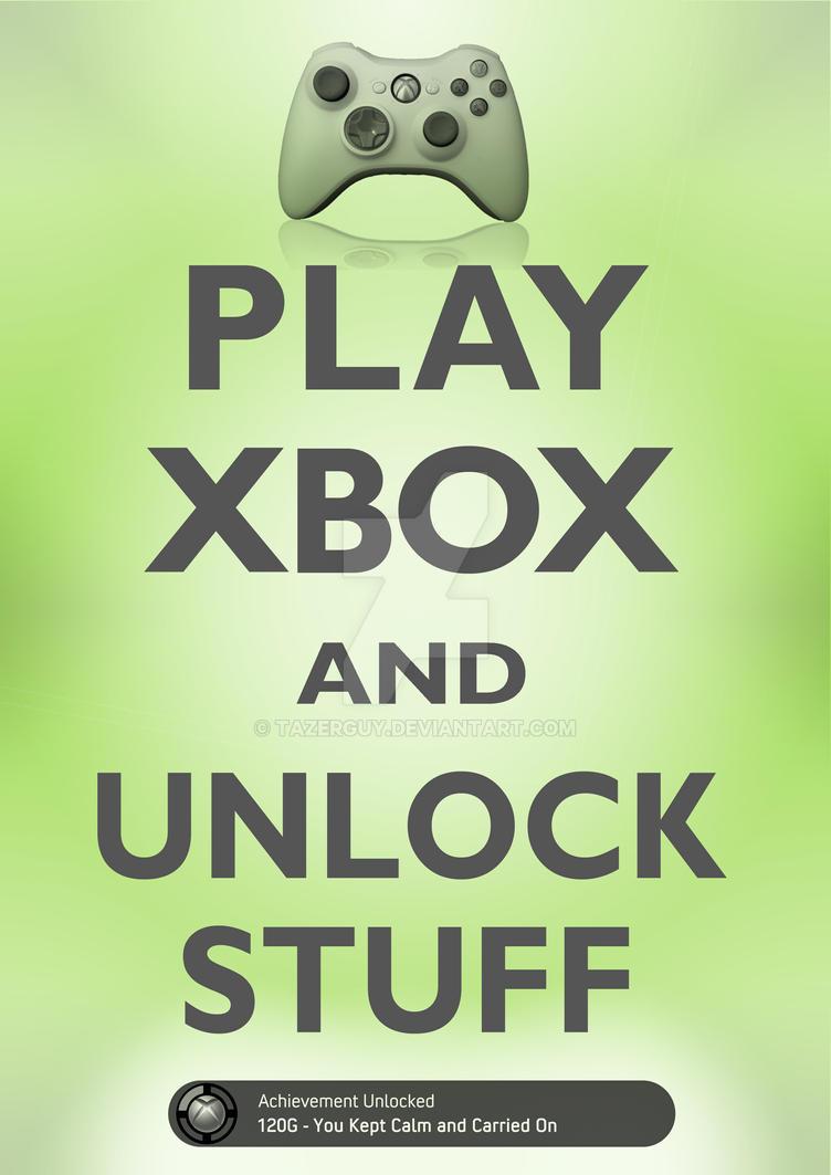 Play Xbox and Unlock Stuff by tazerguy