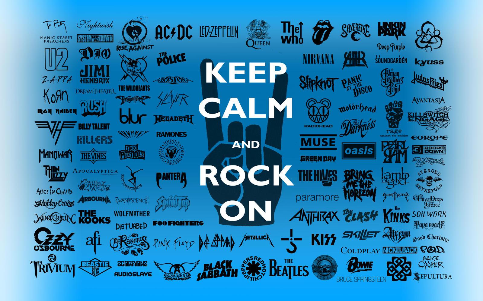 Keep Calm Rock On Wallpaper By Tazerguy
