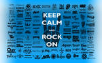 Keep Calm, Rock On Wallpaper