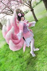 Blossom Fox by SinystraSunshine